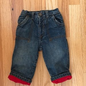 Baby boy fleece lined jeans - Old Navy 6-12 months